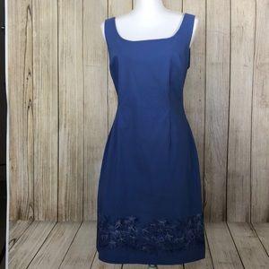 Summer Dress Blue Express Size 13 14 Stretch